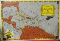 "Poster Map - ""Routes of the Famous Flying Clipper Ships"""
