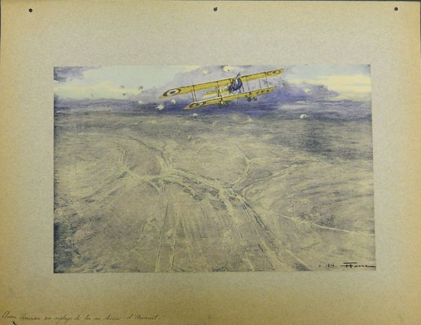 Original Farre Folio Print - Farman Directing Artillery Fire