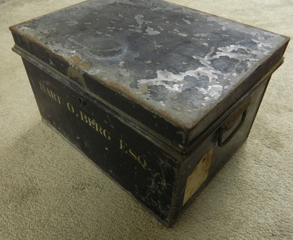 Wright Brothers Association Steel Chest of Hart O. Berg - circa 1908