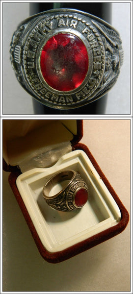 WWII Freeman Army Airfield Pilot Ring - circa 1942/46