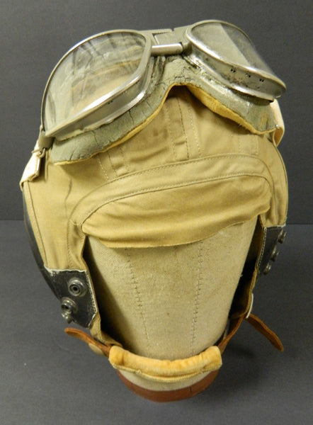 WWII Pilot Helmet and Goggles
