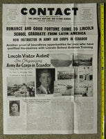 CONTACT - Lincoln Airplane and Flying School Flyer - 1936
