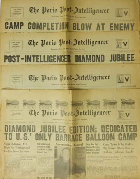 Paris Tennessee Camp Tyson Newspaper - 1942