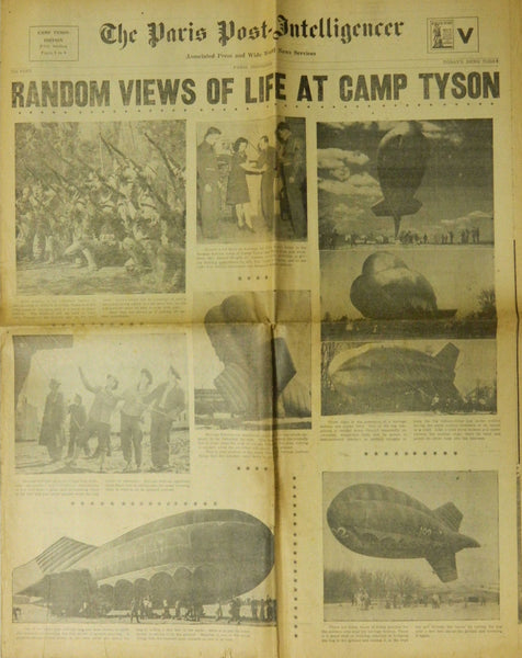 Camp Tyson Tennessee Newspaper Insert - 1942