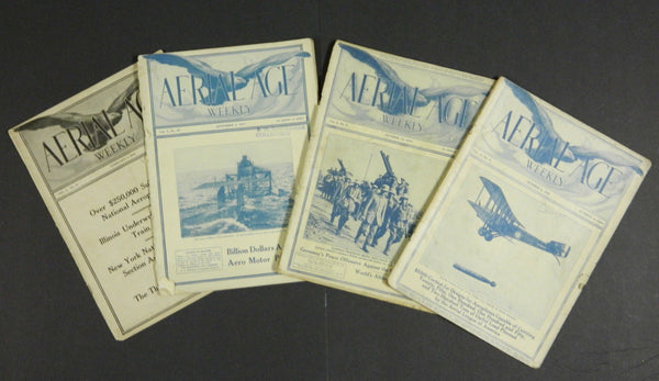 Aerial Age Weekly, 4 issues - 1916 to 1920