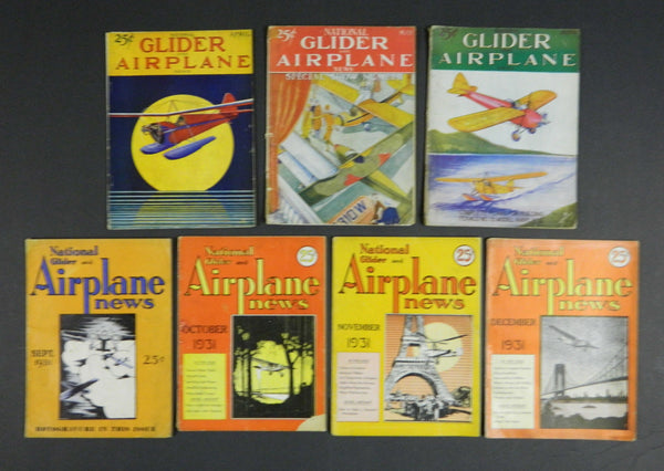 National Glider and Airplane News, 11 Issues - 1931