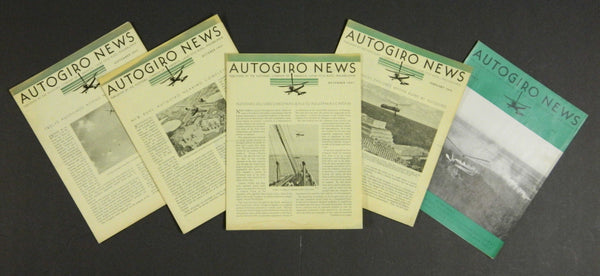 Autogiro News, 5 Issues - 1931/32