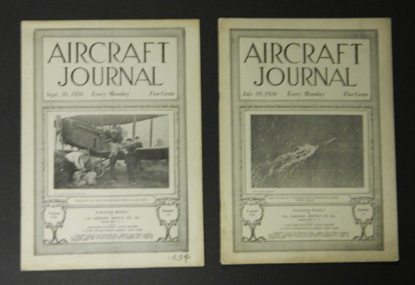 Aircraft Journal, 2 Issues - 1920