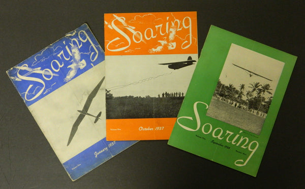 SOARING, 3 issues - 1937/38