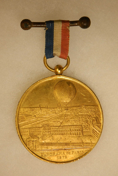 Commemorative French Giffard Medal - 1875