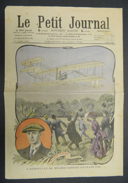 French Celebrate Wilbur Wright's Flights at LeMans - 1908