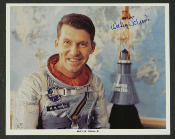 Wally Schirra Signed Astronaut Photo