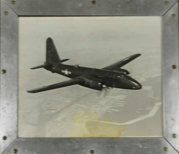 Large US Navy P2V-2 Photo in Custom Frame - circa 1950
