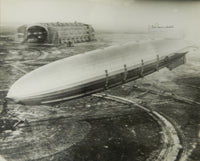 Large UPI Photo of the Airship Akron Autographed by C.E. Rosendahl and Akron Survivor Erwin