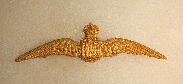 Brass WWI Royal Flying Corps Wing