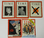 Small Historic Time Magazine Lot of 5 - 1936 to 1973