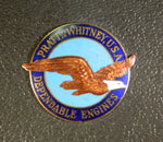 Pratt & Whitney Enamel Engine Emblem from Lockheed 10A Electra Crash - 1939