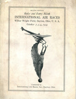 Rules and Entry Blank - 1924 International Air Races - Dayton, OH