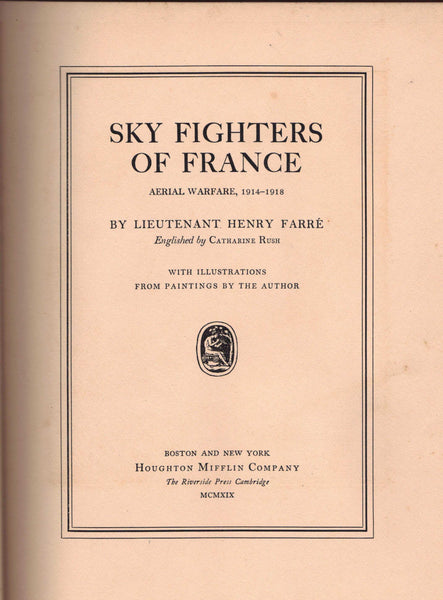 Sky Fighters of France - Henri Farre