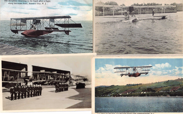 Flying Boat Cards/Photos (8) - circa 1917-1922