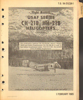 Flight Manual, USAF CH-21B Helicopter - 1965