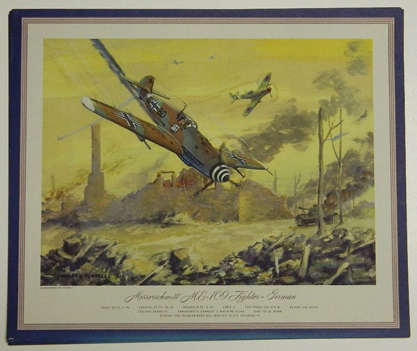 Hubbell Prints - German and Japanese Aircraft - circa 1945 Calendar