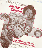 1979 Hughes Air West Air Race Classic Woman's Race Program - Santa Monica to Milwaukee