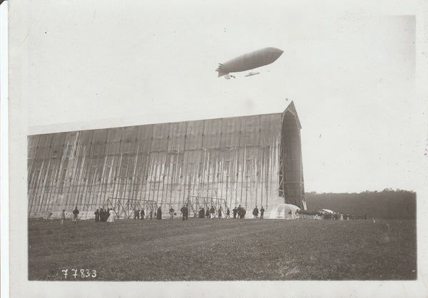 "French Societe Astra Dirigible ""Adjudant Reau"" Photo - 1909/1911"