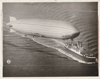 Graf Zeppelin Welcomes Dr. Hugo Eckener Aboard the S.S. New York