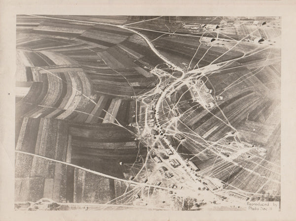 WWI Aerial Photo - Ourches Airdrome