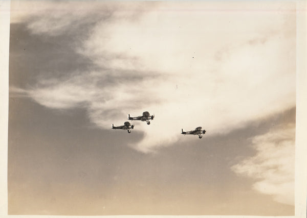 Three Curtiss Hawks in Flight