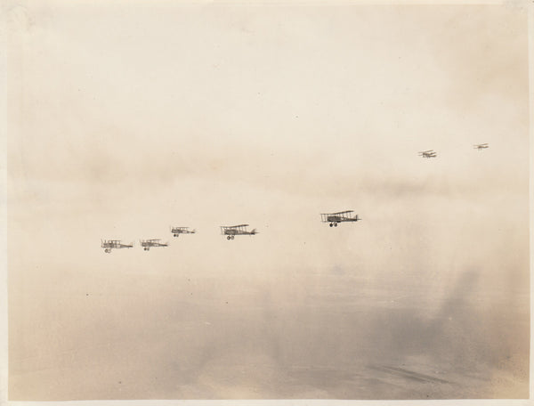 Seven Air Corps Biplanes in Flight - ca. late 1920s