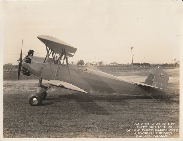 Custom Fleet Biplane for WWI USN Ace David Ingalls - 1930