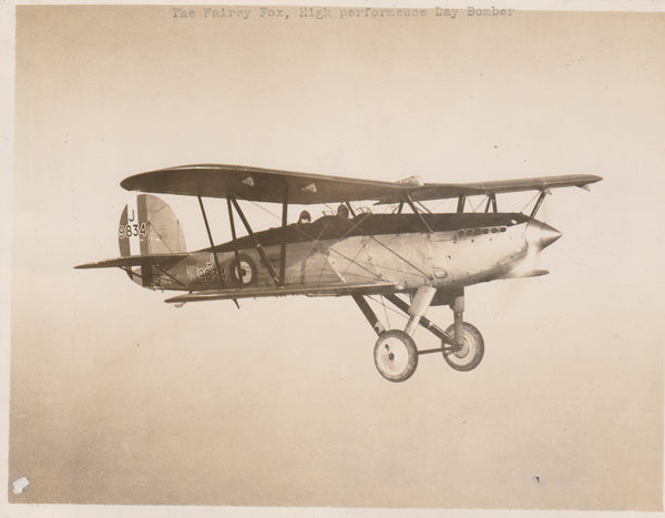 "Fairey ""Fox"" in Flight - 1925"