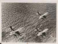 German Press Photo of Seaplanes in German Sea Games - 1935