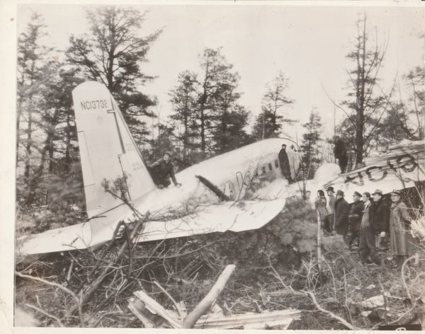 AP Press Photo of Crashed Airliner - circa 1939