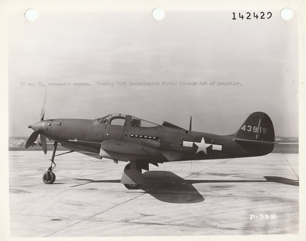 WWII P-39 Official USAAF Photo