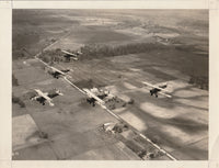 Early USAAC Formation Flight Photo - circa 1920s