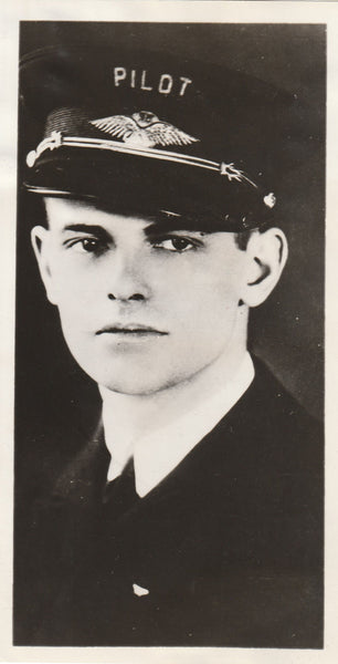 "Press Photo of ""Hero"" Airline Pilot - 1934"