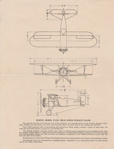 Boeing Promotional Flyer, P-12B
