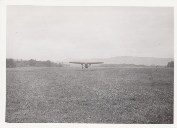 Unknown Aircraft on Grass Strip
