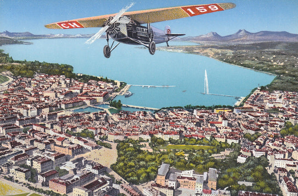 Geneva Color Postcard - circa 1930