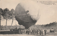 French Observation Balloon Postcard - circa 1915