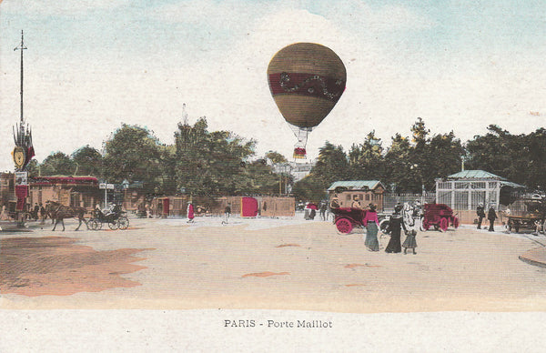 Paris Balloon Postcard - circa 1910