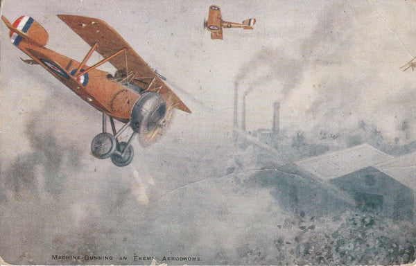 British WWI Air Battle Scene Postcard - circa 1917