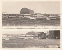 Two Small Panoramas of Brussels Aerodrome - circa 1920