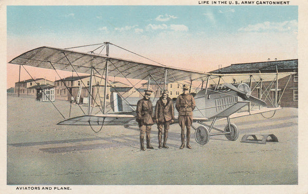Color Souvenir Postcard of U.S. Air Service Jenny - circa 1918