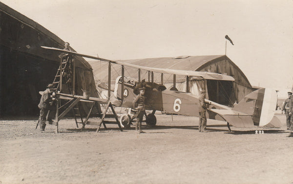 Real Photo Postcard, WWI of a DH-4