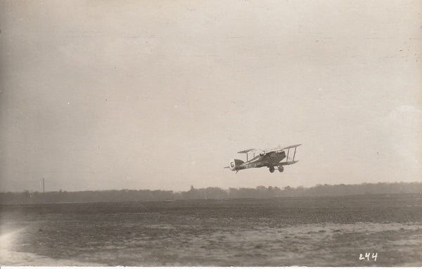 Real Photo Postcard of Handley-Page In Flight