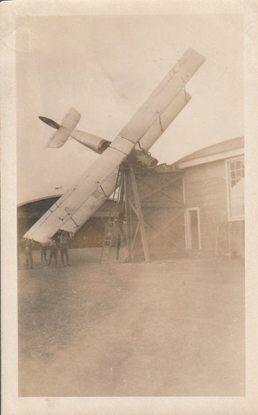 Original Photo of a Wrecked Jenny -  circa 1918